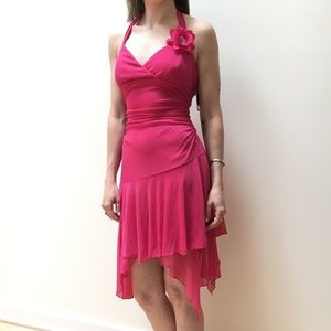 Halter top, pink dress, size medium